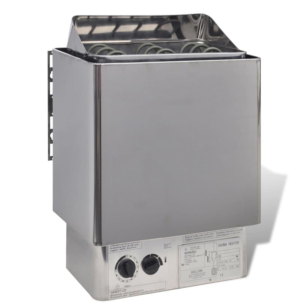 Radiator pentru saună oțel inoxidabil cu panou de control intern 9kW poza vidaxl.ro