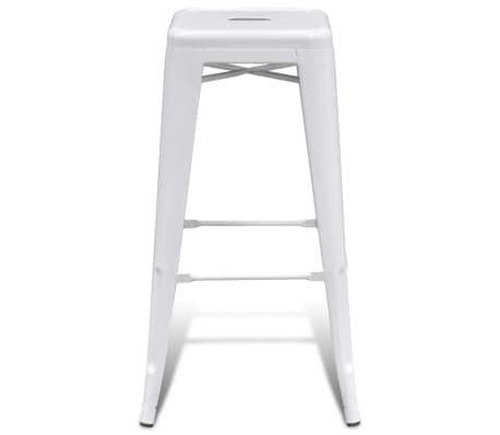vidaXL Bar Stools 2 pcs Square White[3/5]