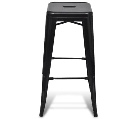 vidaXL Bar Stools 2 pcs Square Black[3/5]