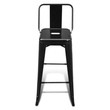 vidaXL Kwadratowe stołki barowe, 2 szt., czarne[4/5]