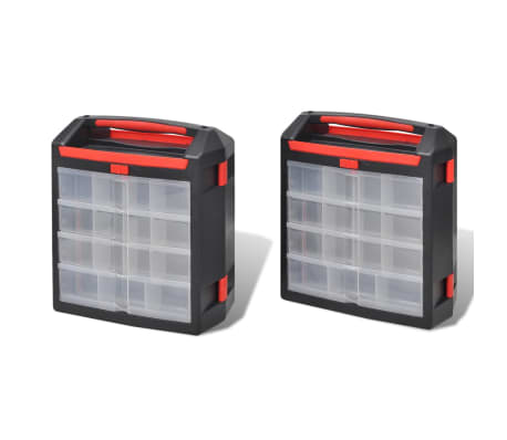 Tool Case 2 pcs Tool Box Tool Storage[2/5]
