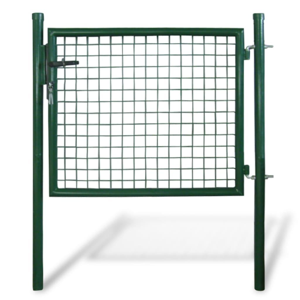 vidaXL Garden Mesh Gate Fence Door Wall Grille 85.5 x 75 cm / 100 125