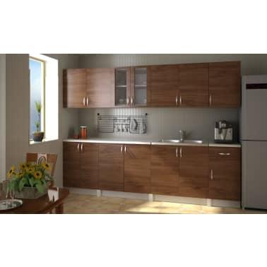 Cucina componibile 2.6m mobili da cucina marrone chiaro