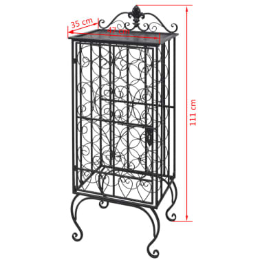 vidaXL Wine Rack for 28 Bottles Metal[8/8]