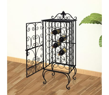vidaXL Wine Rack for 28 Bottles Metal[1/8]