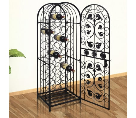 vidaXL Wine Rack for 45 Bottles Metal[1/5]