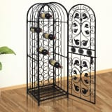 vidaXL Wine Rack for 45 Bottles Metal