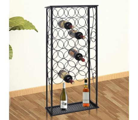 vidaXL Wine Rack for 28 Bottles Metal[1/5]