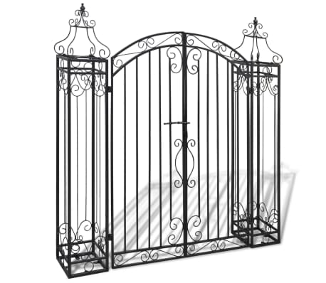 vidaXL Ornamental Garden Gate Wrought Iron 122x20.5x134 cm