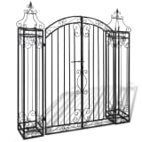 "vidaXL Ornamental Garden Gate Wrought Iron 4'x8""x4' 5"""