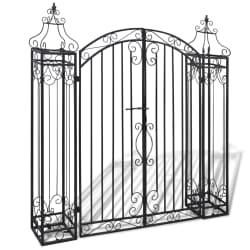 "vidaXL Ornamental Garden Gate Wrought Iron 4'x8""x4' 5"""