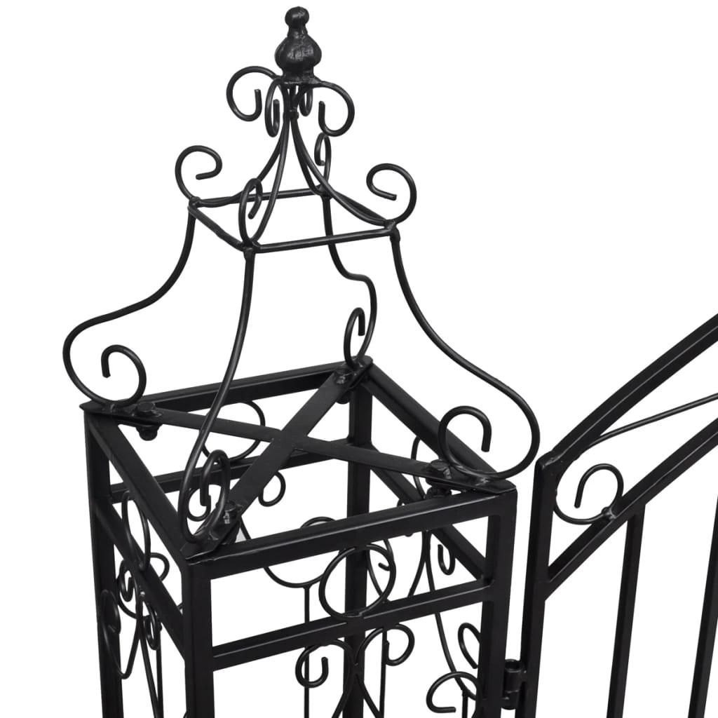 Okrasná zahradní brána kované železo 122 x 20,5 x 134 cm