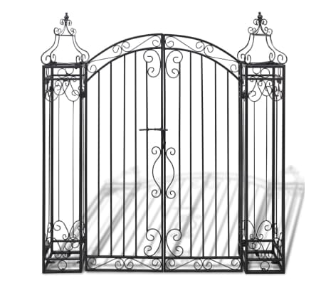 "vidaXL Ornamental Garden Gate Wrought Iron 4'x8""x4' 5""[2/5]"
