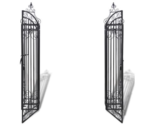 "vidaXL Ornamental Garden Gate Wrought Iron 4'x8""x4' 5""[3/5]"