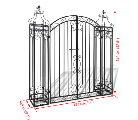 "vidaXL Ornamental Garden Gate Wrought Iron 4'x8""x4' 5""[5/5]"