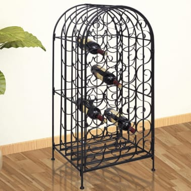 vidaXL Wine Rack for 35 Bottles Metal[1/7]