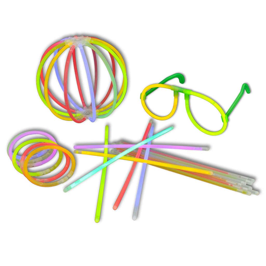 Afbeelding van vidaXL 500 stuks Multi-colour glowsticks breeklichten div. aansluitingen