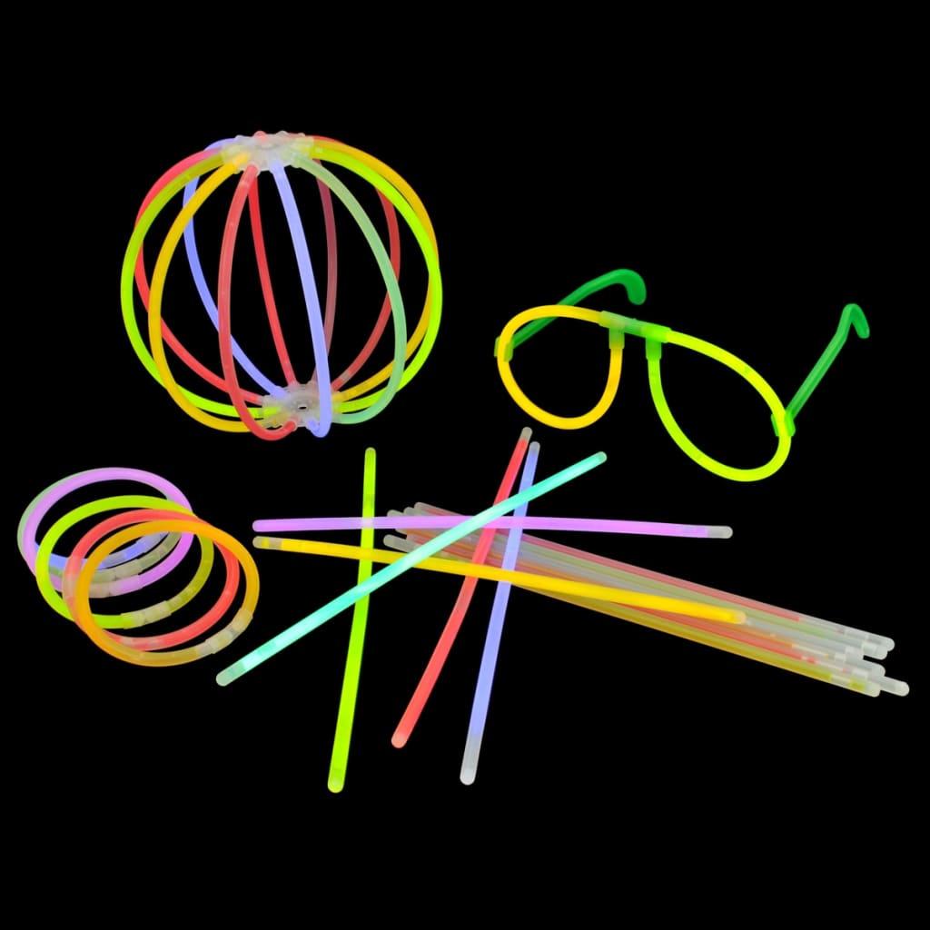 500ks Mnohobarevné svítící tyčinky s různými spojkami