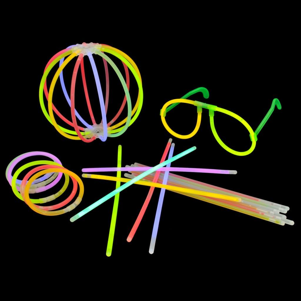 1000 buc Bețișoare luminoase multicolore cu diferiți conectori vidaxl.ro