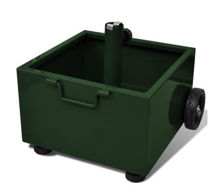 vidaXL Outdoor Umbrella Stand Plant Pot Green[3/6]