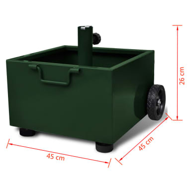 vidaXL Outdoor Umbrella Stand Plant Pot Green[6/6]