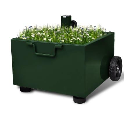 vidaXL Outdoor Umbrella Stand Plant Pot Green[1/6]