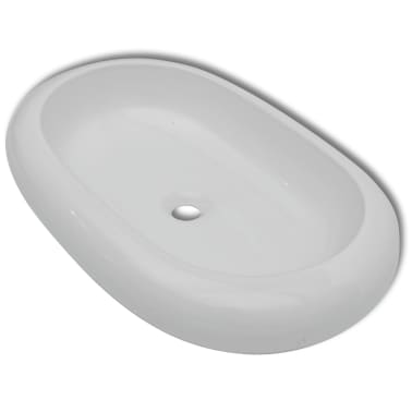 keramik waschtisch waschbecken oval wei 63 x 42 cm g nstig kaufen. Black Bedroom Furniture Sets. Home Design Ideas