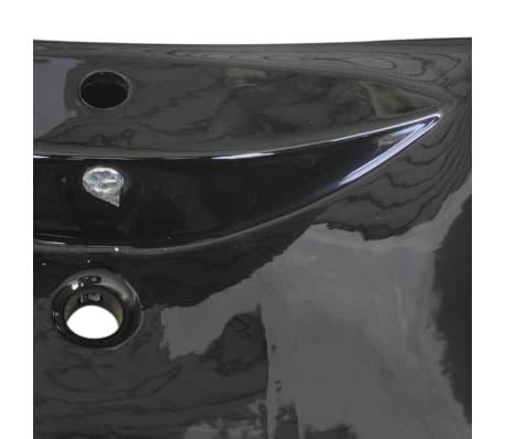 vidaXL Razkošen keramičen umivalnik pravokoten z odprtino za pipo[6/8]