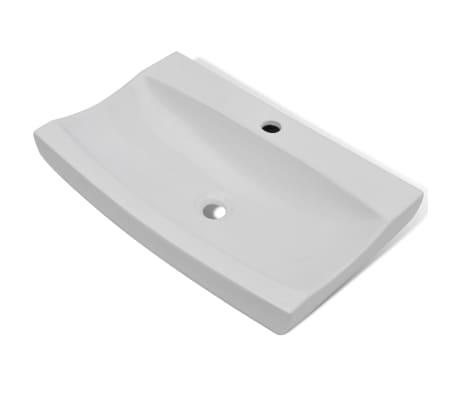 acheter vasque poser en c ramique rectangulaire blanche 62 5 x 39 5 cm pas cher. Black Bedroom Furniture Sets. Home Design Ideas