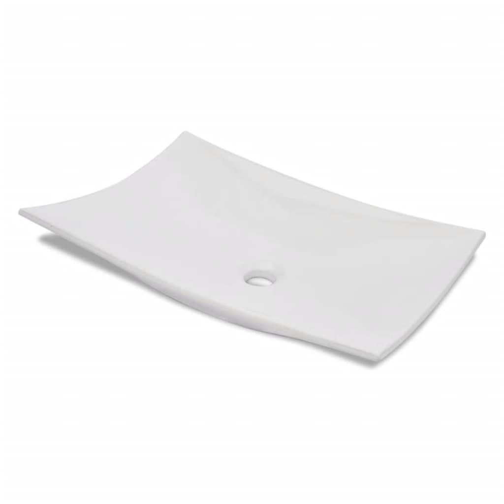Afbeelding van vidaXL Luxe keramische wasbak 4-punten 60 x 40 cm (wit)