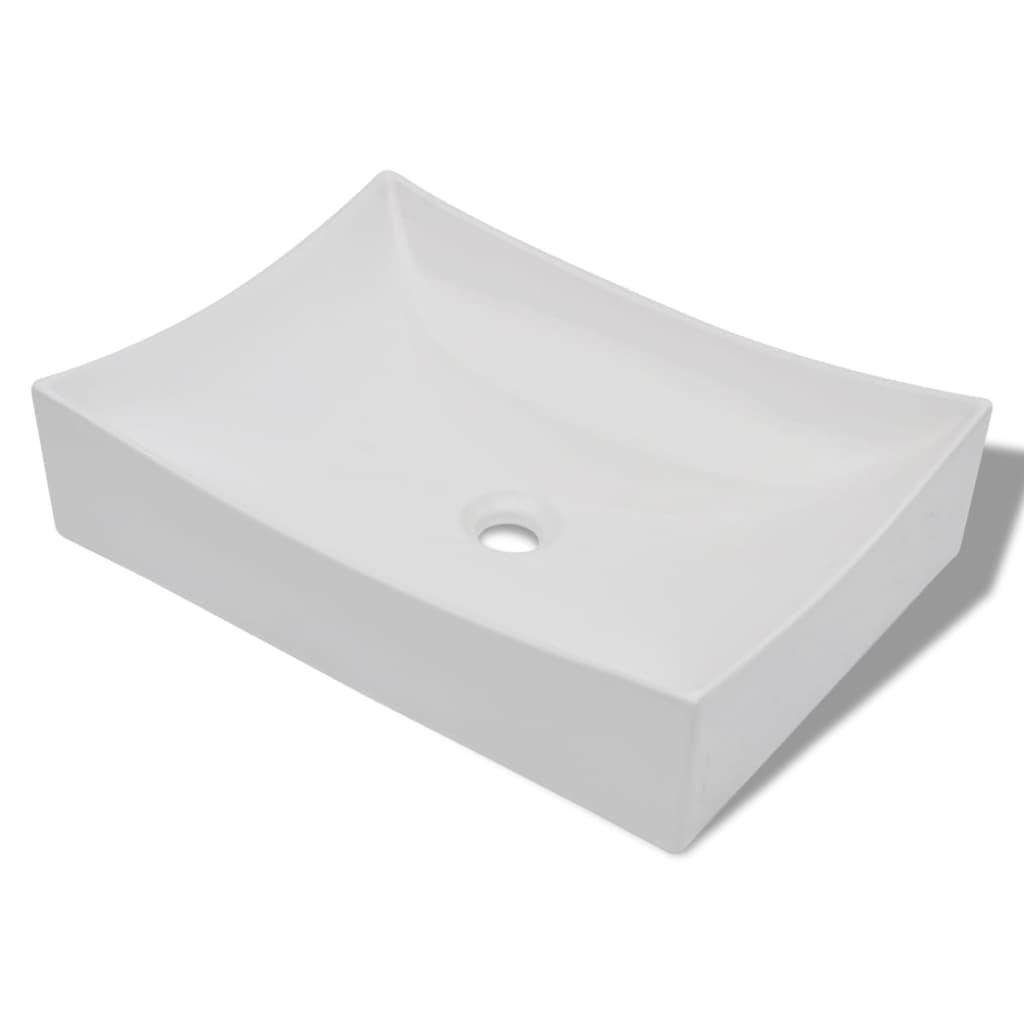 Afbeelding van vidaXL Keramische wasbak schaalvormig hoogglans (wit)