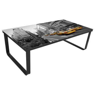 vidaXL Coffee Table with Glass Top Rectangular[2/5]