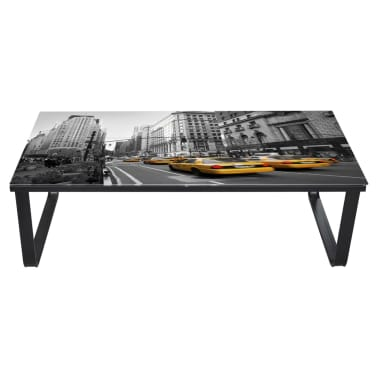 vidaXL Coffee Table with Glass Top Rectangular[3/5]