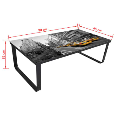 vidaXL Coffee Table with Glass Top Rectangular[5/5]