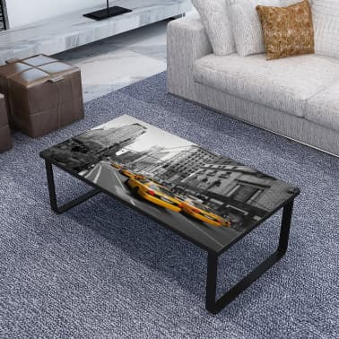 vidaXL Coffee Table with Glass Top Rectangular[1/5]