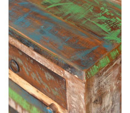 vidaXL End Table with 1 Drawer 1 Door Reclaimed Wood[11/18]