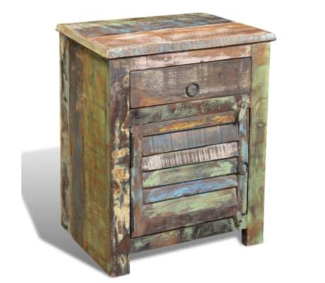 vidaXL End Table with 1 Drawer 1 Door Reclaimed Wood[3/18]