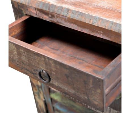 vidaXL End Table with 1 Drawer 1 Door Reclaimed Wood[7/18]