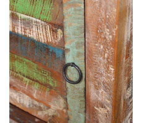 vidaXL End Table with 1 Drawer 1 Door Reclaimed Wood[9/18]