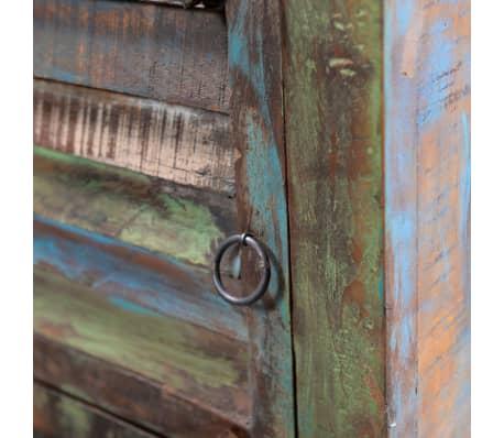vidaXL End Table with 1 Drawer 1 Door Reclaimed Wood[10/18]