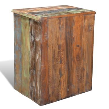 vidaXL End Table with 1 Drawer 1 Door Reclaimed Wood[4/18]