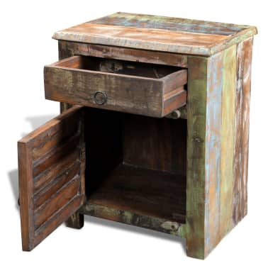 vidaXL End Table with 1 Drawer 1 Door Reclaimed Wood[6/18]