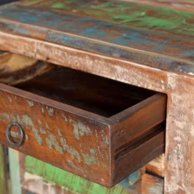 vidaXL End Table with 1 Drawer 1 Door Reclaimed Wood[8/18]
