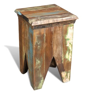 Reclaimed Wood Stool Hocker Antique Chair[2/7]