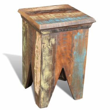 Reclaimed Wood Stool Hocker Antique Chair[4/7]