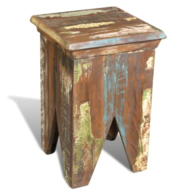 Reclaimed Wood Stool Hocker Antique Chair[5/7]
