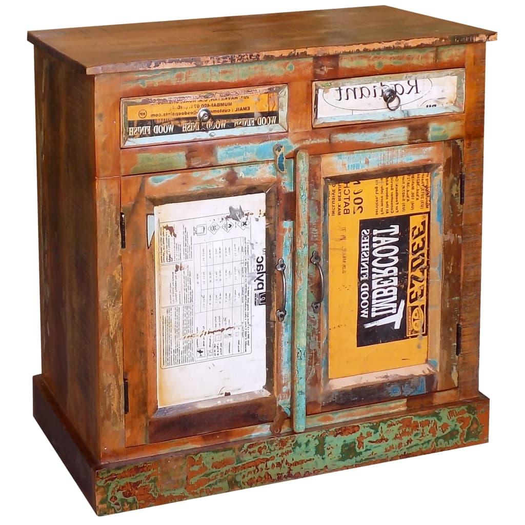 vidaXL Příborník / komoda z recyklovaného dřeva, 2 zásuvky a 2 dvířka