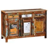 vidaXL Kast met 3 lades en 3 deuren vintage stijl gerecycled hout
