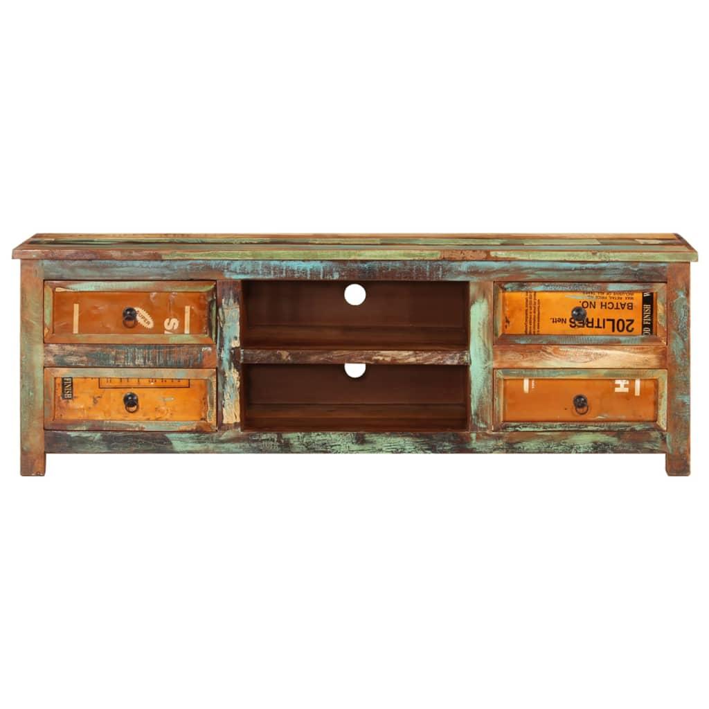 99240955 Design Antik Teak TV-Tisch Lowboard Sideboard 4 Schubladen