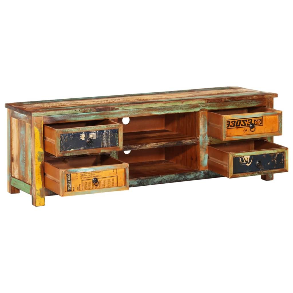 Tv-meubel met 4 lades gerecycled hout